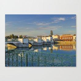 Tavira the 'Roman Bridge', Portugal Canvas Print