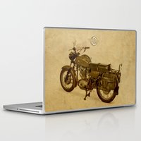ducati Laptop & iPad Skins featuring Ducati vintage background by Larsson Stevensem