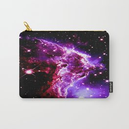 Pink Purple Monkey Head Nebula Galaxy Space Carry-All Pouch