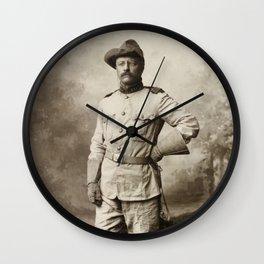 Col. Theodore Roosevelt, in Rough Rider Uniform Wall Clock