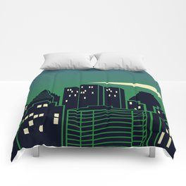 Montreal Skyline Comforters