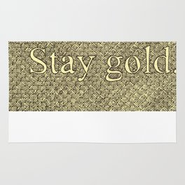 Stay Gold Rug