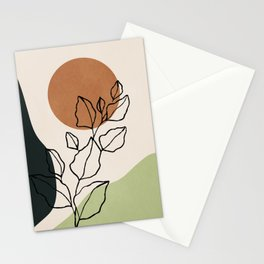 Abstract Art /Minimal Plant 6 Stationery Cards