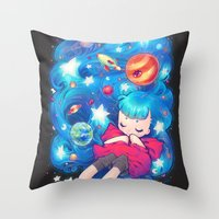 barachan Throw Pillows featuring space by barachan