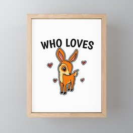 Just A Girl Who Loves Fawns Cute Fawn Costume Framed Mini Art Print