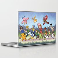 digimon Laptop & iPad Skins featuring Hey Digimon! by Crystal Kan