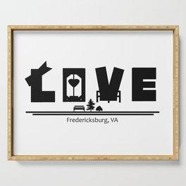 LOVE in Fredericksburg, VA Serving Tray