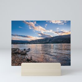 Sunset at Lake Wanaka, New Zealand Mini Art Print