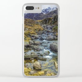 Snowdonia Mountains Clear iPhone Case