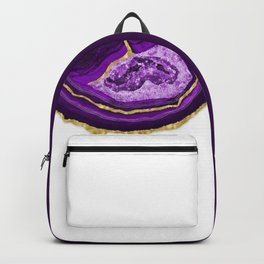 Purple Dripping Agate Backpack