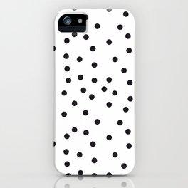 Topos locos negros iPhone Case