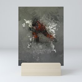 On Ice - Ice Hockey Player Modern Art Mini Art Print