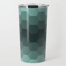 Teal Mint Honeycomb Travel Mug
