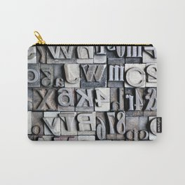 Letterpress Carry-All Pouch