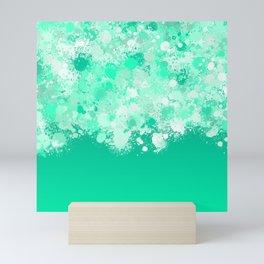 paint splatter on gradient pattern magi Mini Art Print
