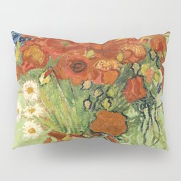 """Vincent van Gogh """"Still Life, Vase with Daisies, and Poppies"""" Pillow Sham"""