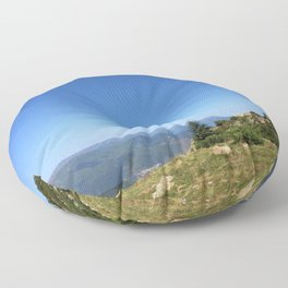View on the summits Floor Pillow