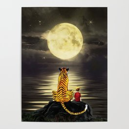both with bright moon Poster