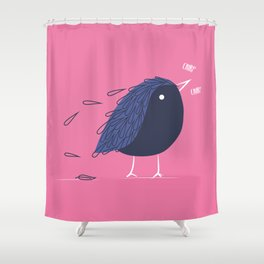 Chirp chirp Shower Curtain
