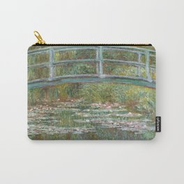 Claude Monet - Bridge Over A Pond Of Water Lilies Carry-All Pouch