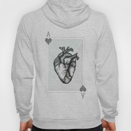 Ace Of Hearts - Mint Hoody