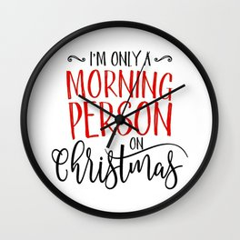Christmas Morning Wall Clock