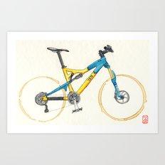 Coffee Wheels #13 Art Print