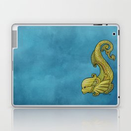 Dive Deep - Gold Dolphins Laptop & iPad Skin