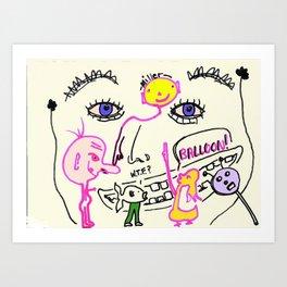 WTF Balloon Art Print
