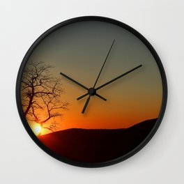 Sunset over Virginia Wall Clock