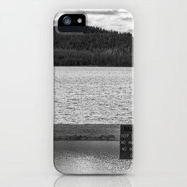 Lake side iPhone Case