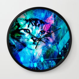 Kitty Cat Laser Lights at the Aleurorave Wall Clock
