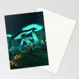 Luminous Mushrooms Stationery Cards
