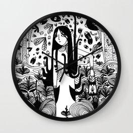 swamp girl  Wall Clock