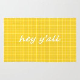 hey y'all - yellow Rug