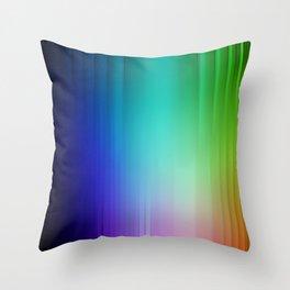 Showering Streaks of Rainbows Throw Pillow