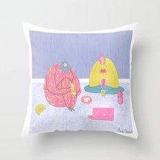 A Perfect Introvert's Evening Throw Pillow