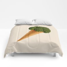 broccoli ice cream Comforters