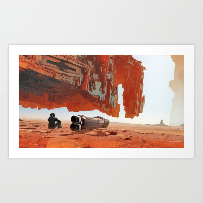 A Hundred Miles Off Art Print