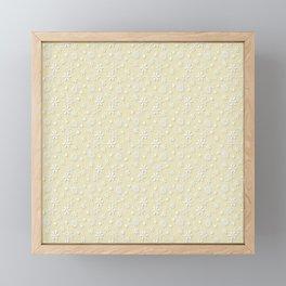 Christmas Eggnog Cream Snow Flakes Framed Mini Art Print