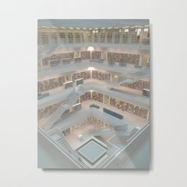 Stuttgart City Library Metal Print
