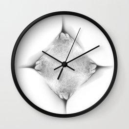 Abstract Vagina 1 Wall Clock