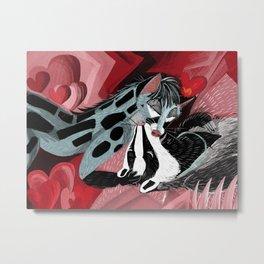 Strange Love: Genette & Badger Metal Print