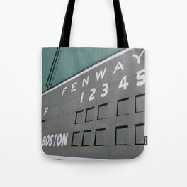 Fenwall -- Boston Fenway Park Wall, Green Monster, Red Sox Tote Bag