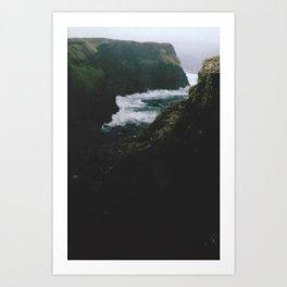 Analogue Cliffs Art Print