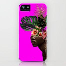 Lady FLOWERS XVII iPhone Case