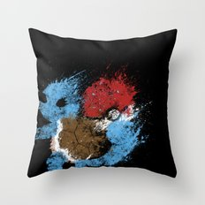Water Starter Throw Pillow