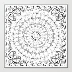 paisley sperm Canvas Print