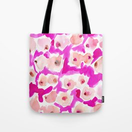WILD BOOBS Pink Watercolor Tote Bag
