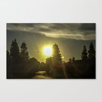airplanes Canvas Prints featuring Airplanes & Sunshine  by Liese May Photography
